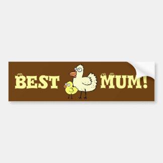 Funky Farm Chickens Best Mum! Bumper Sticker 2