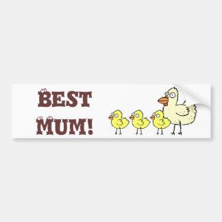 Funky Farm Chicks Best Mum! Bumper Sticker