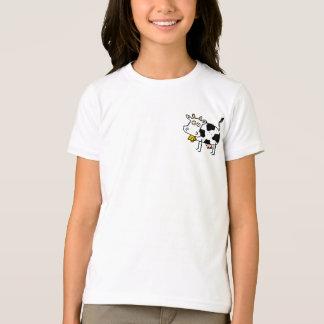 Funky Farm Cow Girls Ringer T-Shirt