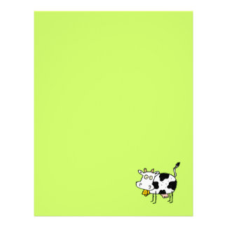 Funky Farm Cow Recycled Letterhead Paper