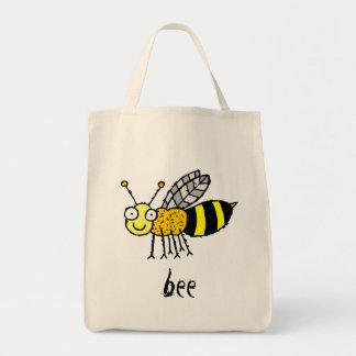 Funky Farm Honey Bee Grocery Tote Bag