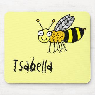 Funky Farm Honey Bee Name Mousepad Isabella