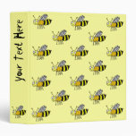 Funky Farm Honey Bee Pattern Binder