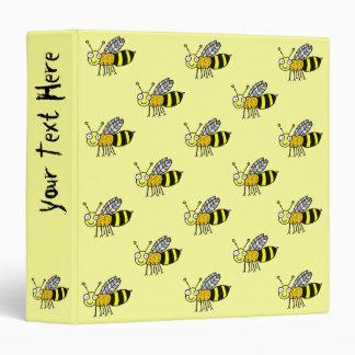 Funky Farm Honey Bee Pattern Binder
