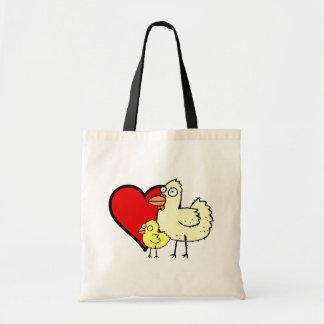 Funky Farm I Heart Mom Budget Tote Bag
