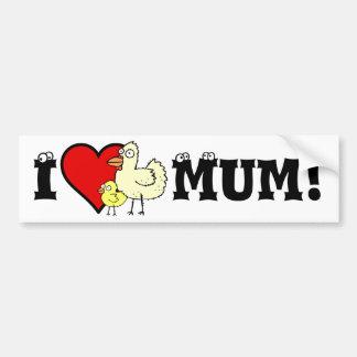 Funky Farm I Heart Mom Sticker Bumper Sticker