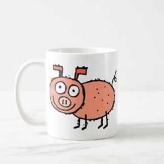 Funky Farm Pig Customizable Kids Coffee Mug