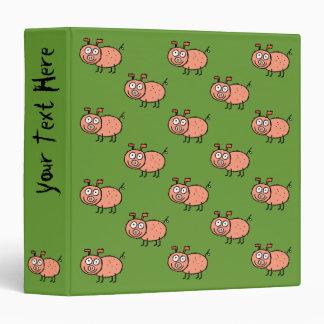 Funky Farm Pig Pattern Binder