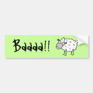 Funky Farm Sheep Bumper Sticker Baaaa!!