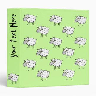 Funky Farm Sheep Pattern Binder