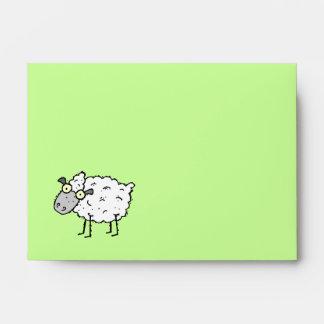 Funky Farm Sheep Recycled A6 Envelope Baa