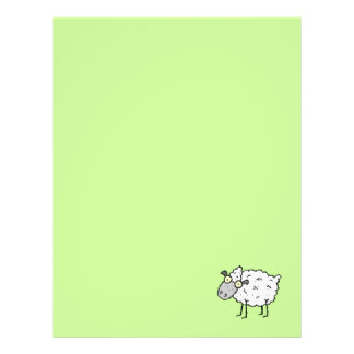 Funky Farm Sheep Recycled Letterhead Paper