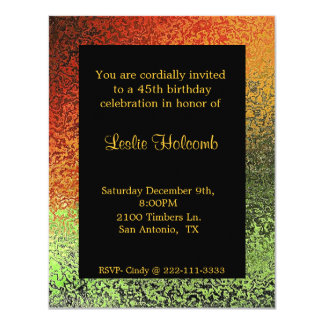Funky Faux Hammered Metal Invitation