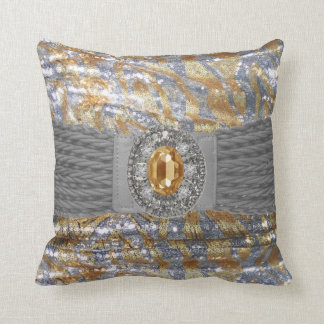 Funky Faux Sequin Rhinestone Mojo Pillow