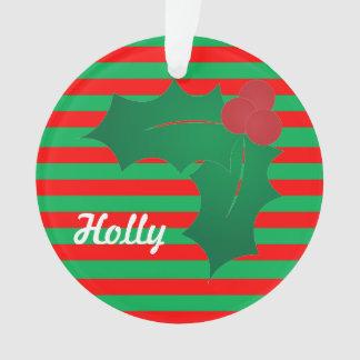 Funky Festive Holly Ornament