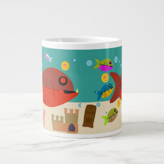 Funky Fifties Fish Tank Giant Coffee Mug