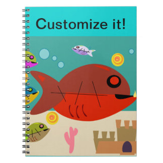 Funky Fifties Fish Tank Note Book