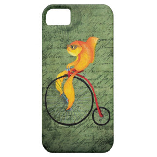 Funky Fish on a Penny Farthing iPhone SE/5/5s Case
