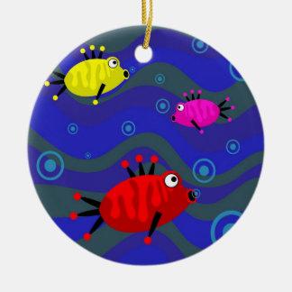 Funky Fish Christmas Ornament