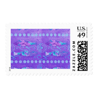 Funky Fish Postage Stamp