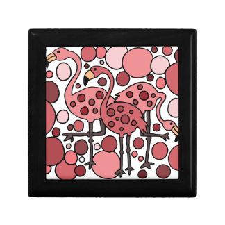 Funky Flamingo Art Keepsake Box