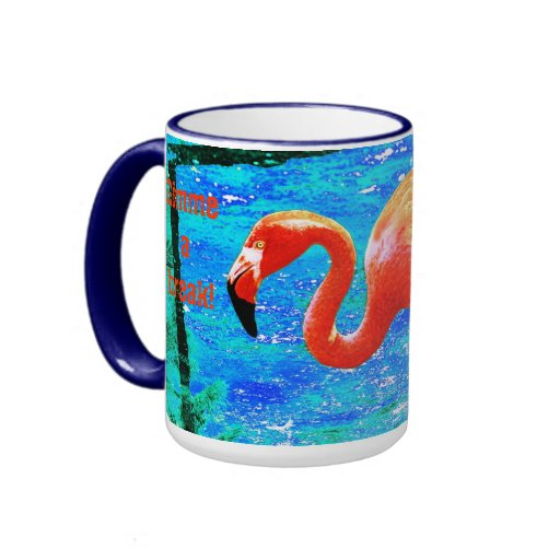 Flamingo funny sayings gifts t shirts art posters other gift ideas zazzle - Funky espresso cups ...