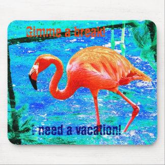 Funky flamingo humorous mouspad mouse pad