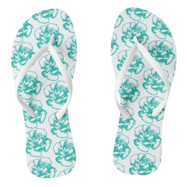 Beach Themed Funky flip flips rose blue flip flops