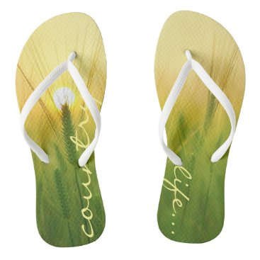 Beach Themed Funky flip flops country life