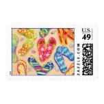 Funky Flip Flops Postage Stamps