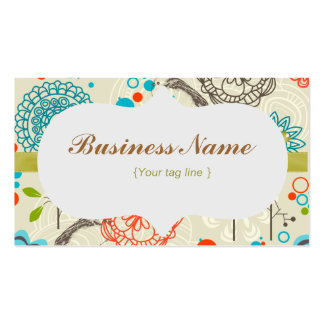 Funky Floral Business Card