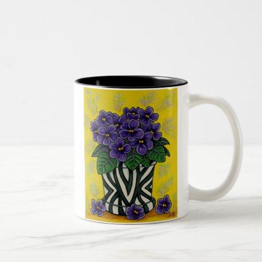 Funky floral coffee mugs zazzle - Funky espresso cups ...