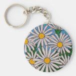 Funky Floral Daisy Key Chain