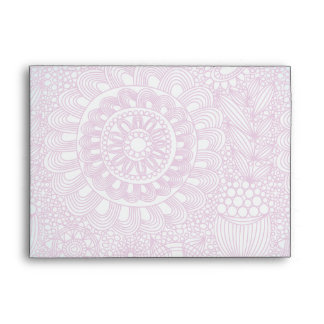 funky floral lattice pattern turquoise pink envelope