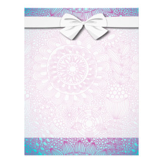 funky floral lattice pattern turquoise pink flyer