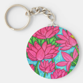 Funky Floral - Lotus Key Chain