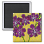 Funky Floral Orchid Magnet