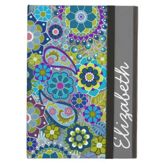 Funky Floral Pattern with Name iPad Air Case