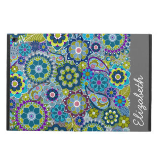 Funky Floral Pattern with Name Powis iPad Air 2 Case