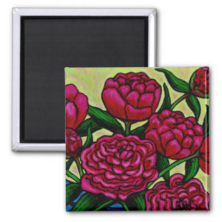 Funky Floral Peony Magnet