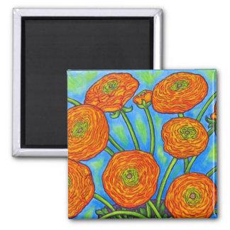 Funky Floral Ranunculus Magnet