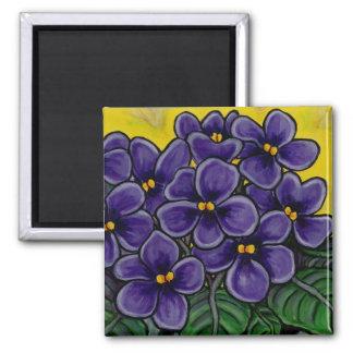 Funky Floral Violet Magnet