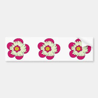 funky florals bumper sticker