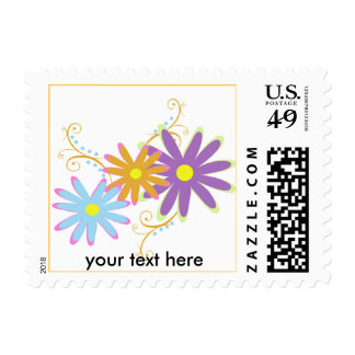 funky florals postage