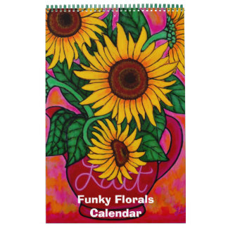 Funky Florals Single Page Calendar