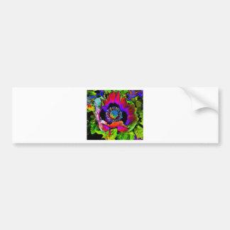 Funky Flower Bumper Sticker