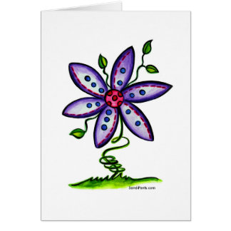Funky Flower Card ~ Blank Inside