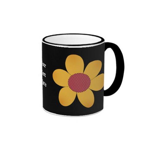 Funky flower coffee mug zazzle - Funky espresso cups ...