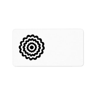 Funky Flower in Black and White. Address Label