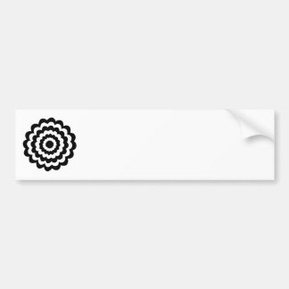 Funky Flower in Black and White. Bumper Sticker
